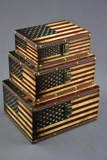 Dekorační kufřík, kufr, šperkovnice, vz. USA vel. M ELEMENTRIX